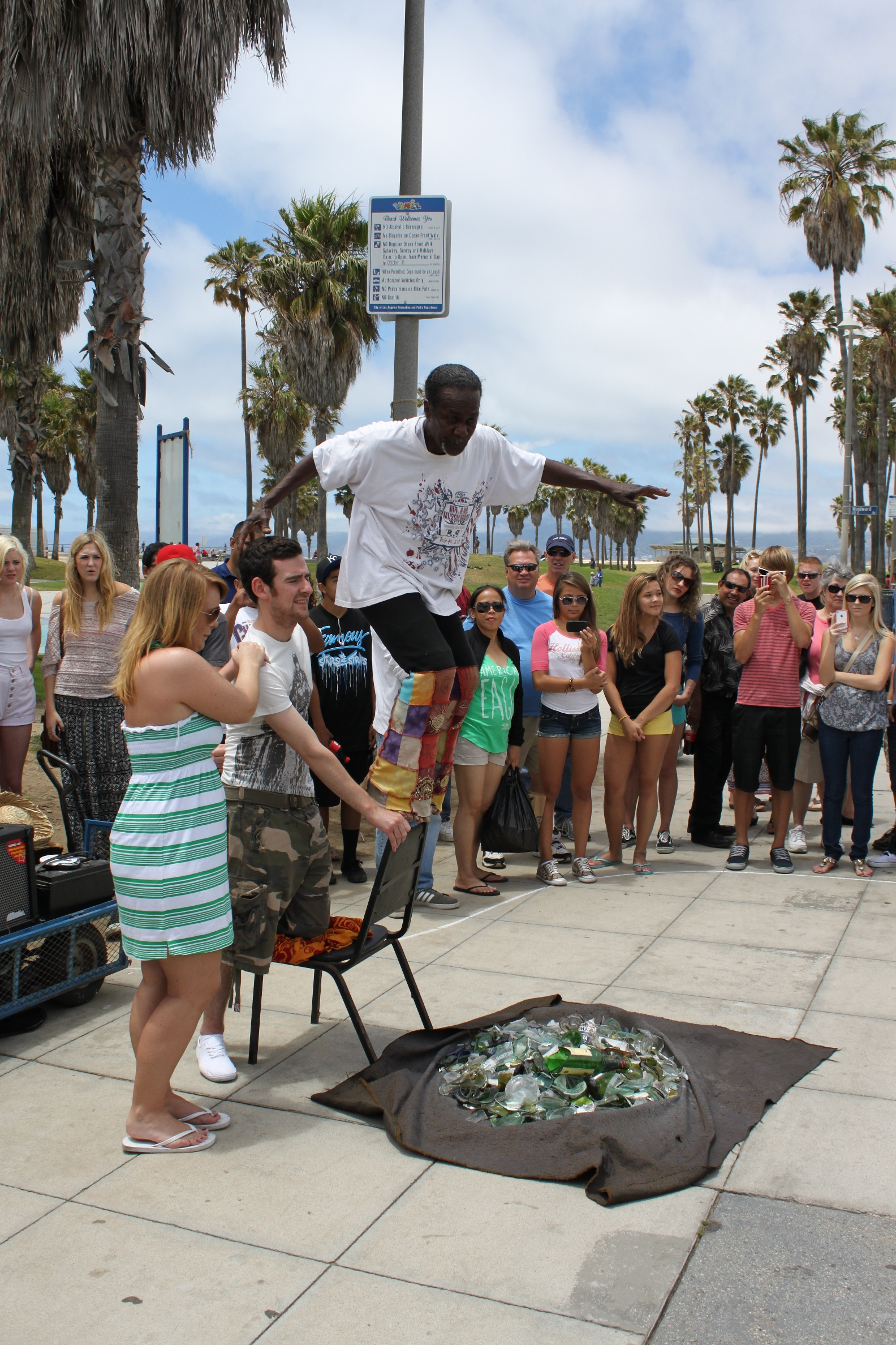 And This Guy He Is Still Here The Turbin Wearing Roller Blading Guitar Playing Dude Was At Venice Beach When I Came Like 14 Years Ago