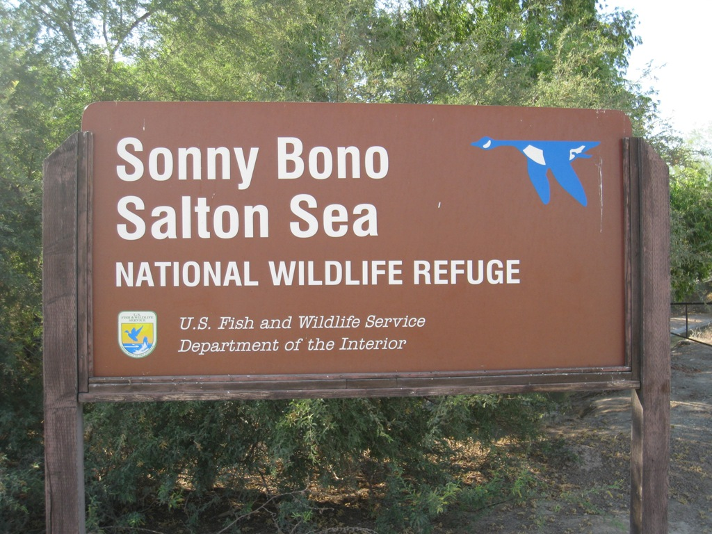 Sonny Bono Salton Sea Refuge sign 7-2009