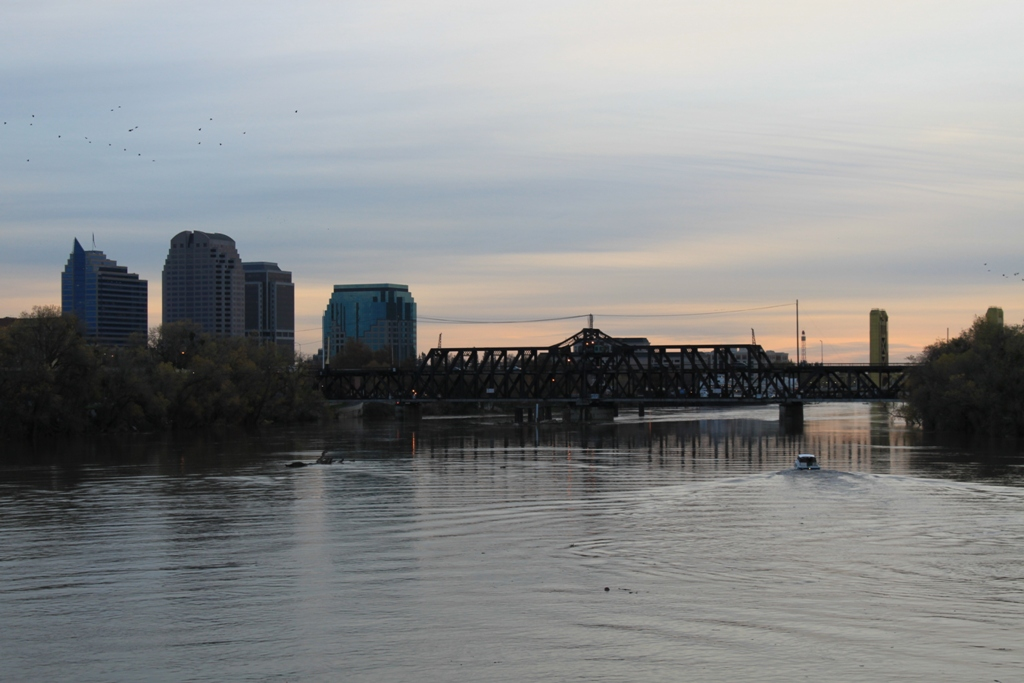 Sacramento Intake downtown at dusk Dec 2012 #3
