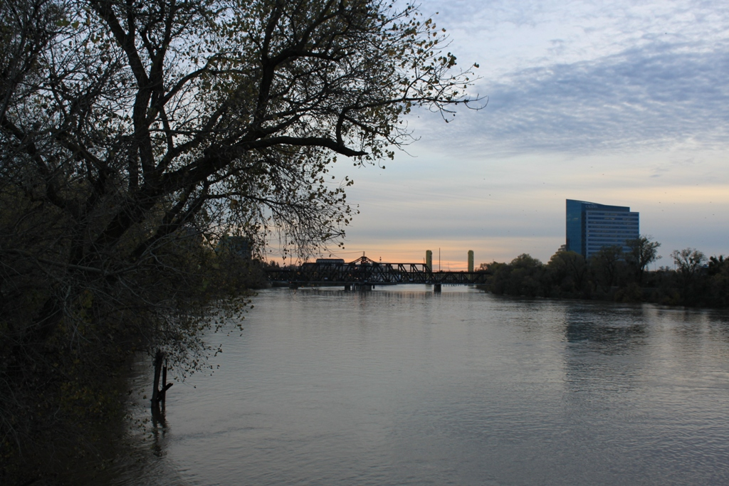 Sacramento Intake downtown at dusk Dec 2012 #4