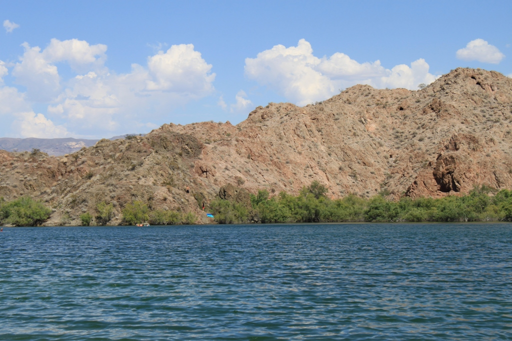 Aug 2012 Boys on cliff at Colorado River #1
