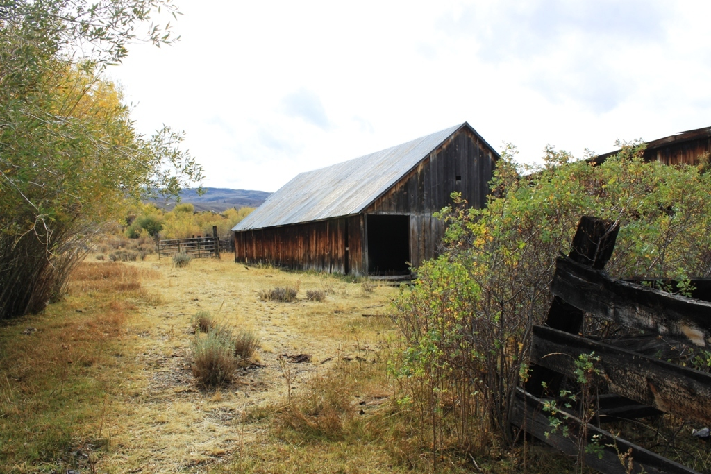 Abandoned farm by Little Walker River Oct 2015 #1